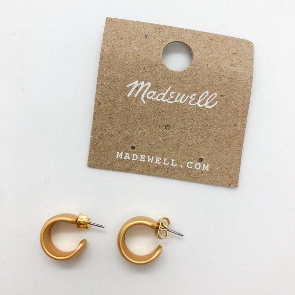 Madewell Gold Chunky Mini Hoop Earrings